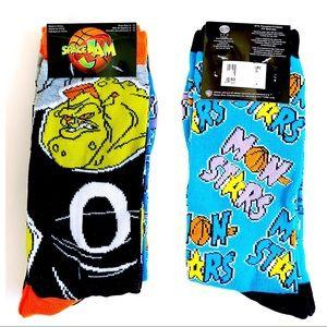 Space Jam Basketball Looney Tunes Socks 2 Pairs